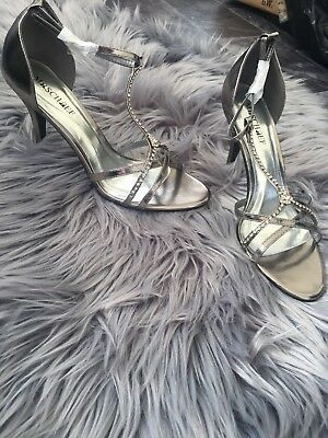 Mischief CLEO Pewter Shoes Size 8 ❤️wedding Shoes ❤️Heels ❤️party Shoes