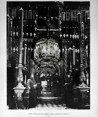 "Holy Land ""Interior Of Holy Sepulcher"" in 1891 Reprint On Pro Glossy paper"