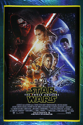 Star Wars The Force Awakens Han Solo Rey Finn Leia Movie Art Poster 24X36   SWFA