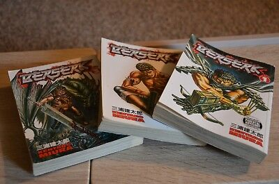 BERSERK by Kentaro Miura volumes 1, 2, and 3 - good condition - no rips or tears