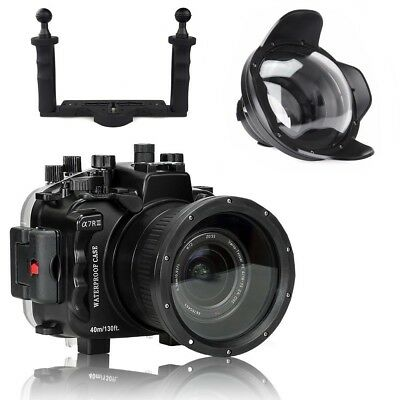 Seafrogs 40M Unterwater Camera Housing For Sony A7III A7RIII w/ Dome Port & Tray