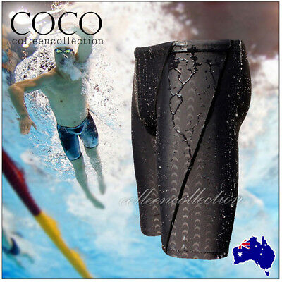 Mens Boys Quick Dry Summer Swim Shorts Swimwear Sharkskin Underwear Boxer Pants