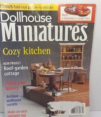 Dollhouse Miniatures Collector Magazines Roof-garden Cottage Project