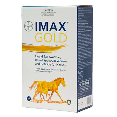 Bayer Imax Gold Liquid equine horse tapeworm plus wormer 100ml FRRE POSTAGE