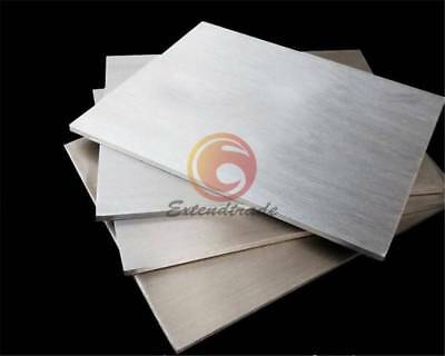 New 1PC 1mm x 100mm x 100mm 304 Stainless Steel Fine Polished Plate Sheet