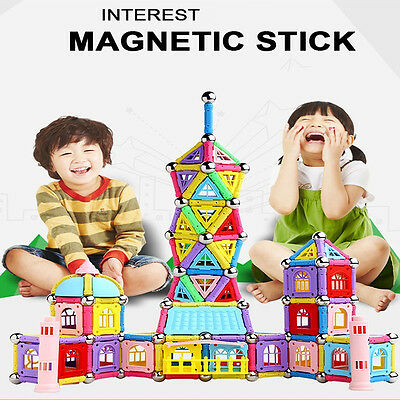 37Pcs Educational Magnetic Sticks Building Blocks Toys Kids Construction Gifts