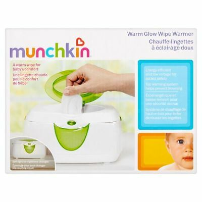Munchkin Warm Glow Wipe Warmer Green one size