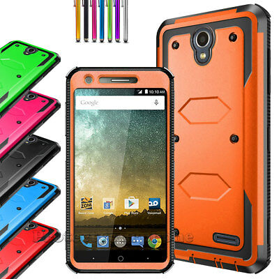 For ZTE Maven 3/Overture 3 Phone Case Shockproof Armor Hybrid Rubber Hard Cover