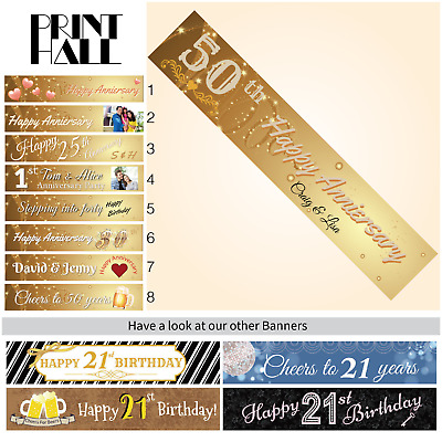 55th Birthday Decorations Supplies Personalised Canvas Party Banner