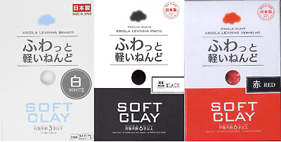 Daiso Soft Lightweight Clay White Black Red made in japan Airship in stock F/S
