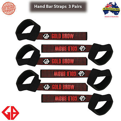 GOLDBROW Hand Bar Wrist Support Gloves Padded Weight Lifting Training Gym Straps