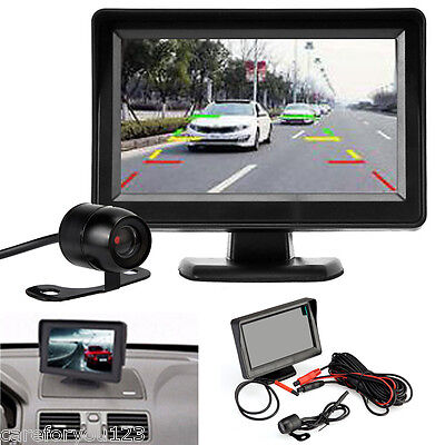 """4.3"""" LCD Monitor Rear View System Wireless Backup Reverse Camera Night Vision"""