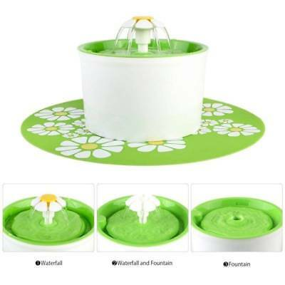 Automatic Electric 1.6 L Pet Water Fountain Dog/Cat Drinking Bowl Flower Style