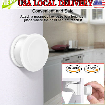 Magnetic Cabinet Locks Baby Safety Invisible Child Kids Safty Cupboard Drawer