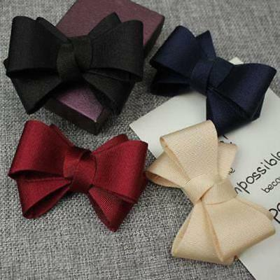 1 Pair Satin Bow Shoe Clips Vintage Style Glamour Bows Bridal Party M 4 Color!