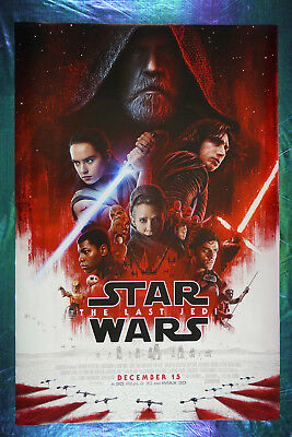 Star Wars The Last Jedi Leia Rey Finn C-3PO Kylo Ren Battle Poster 24X36   SWBT