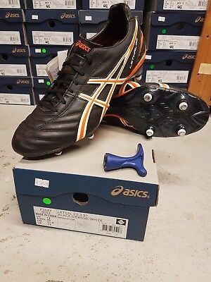 Asics Lethal Ds Mens Black Soft Ground Stud Grass Boots Cleats Uk 8.5 9.5 10