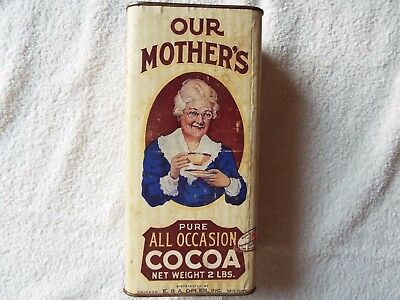 Vintage Our Mother's Cocoa 2# Tin with Cocoa Powder
