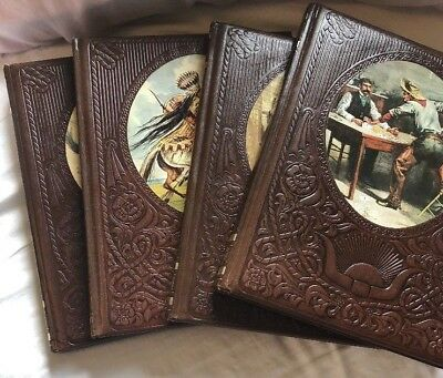 Vintage Time Life The Old West Series Lot of 4 Leatherette Books