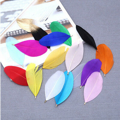 Natural Goose Feather 10-500Pcs/Lot about 6-8cm Small Floating Colourful Feather