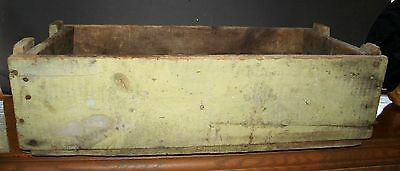 VTG  Wooden Box Solid Oak Barn Boards Thick PRIMITIVE