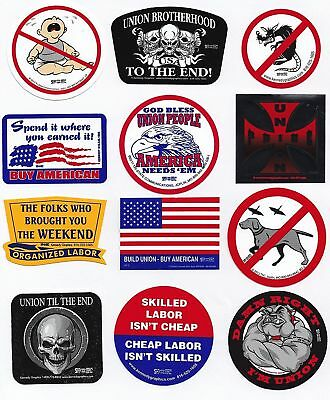 Union Hard Hat Sticker Mix 6 -- Our Best Sellers Pack Made in the USA New