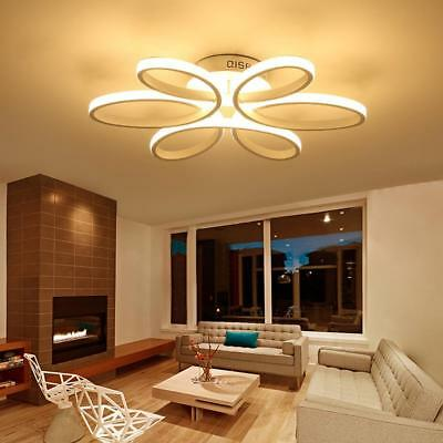Modern Flower Dimming LED Chandelier Living Room Bedroom Lamp Deco Ceiling K