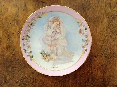 """THE HAMILTON COLLECTION """"Playing Bride"""" By Maud Humphrey Bogart Collectors Plate"""