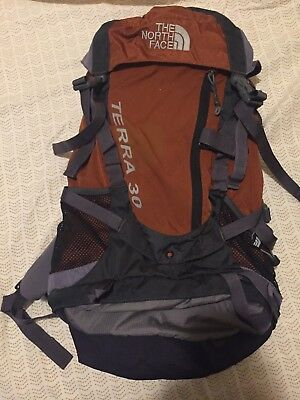 8df96041d NORTH FACE TERRA 30 Hiking Frame Backpack Orange/Grey *Used*