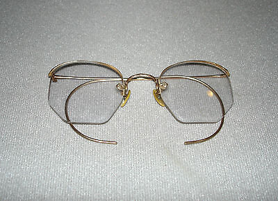 Vintage COC 12k Gold Filled Eyeglasses With Hard Leather Case AS IS