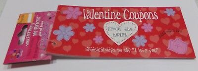 """24 VALENTINES DAY COUPONS FROM THE HEART 5.5x3 Whimsical ways to say """"I Love You"""