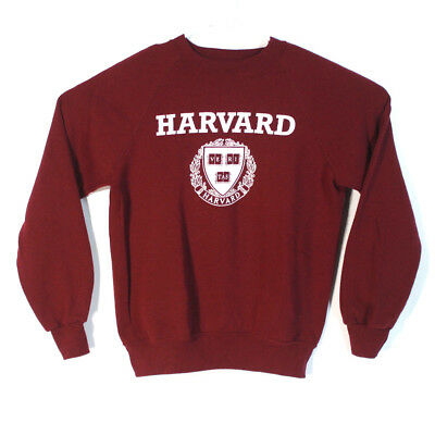 Vintage 80's 90's Harvard University Women's Sweatshirt Size L Made in the USA
