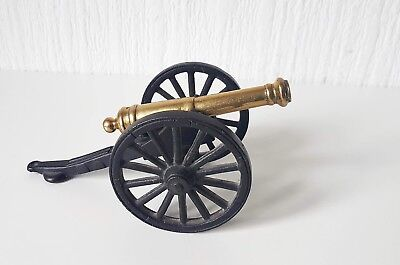 Vintage Brass And Metal Cannon Model