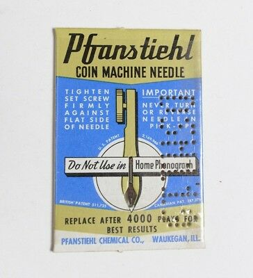 NOS Pfanstiehl Coin Machine (Early Jukebox) Needle