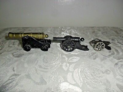 Vintage Miniature Cannons - Lot of Three (3) - One Penncraft, one is a Victory