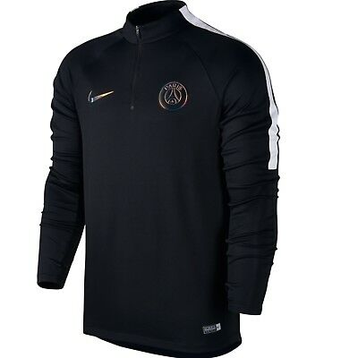 Nike FC PSG Paris Saint Germain Drill Top Black Size Large 809738-014