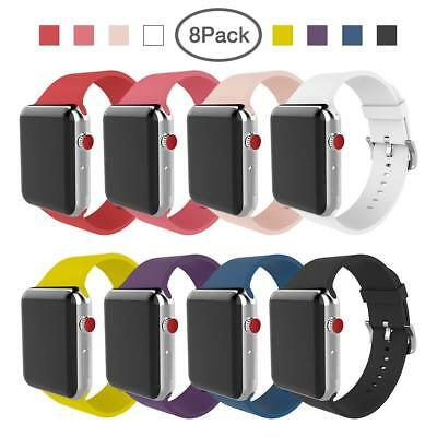 BMBEAR Silicone Replacement Band Strap For Apple Watch 42mm Series 3 2 1 8-Pack