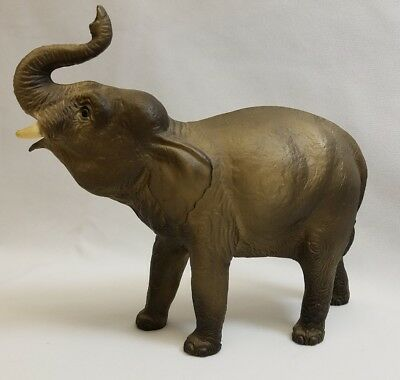 Vintage Breyer Elephant Gray Molded Hard Plastic Figurine 1960's