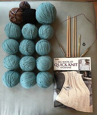 NEW Knitting and Crochet Kit with Yarn and Storage Bag