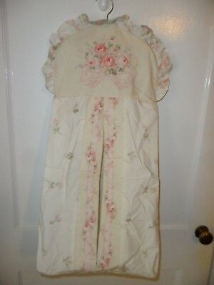 Kids Line Vintage Diaper Hanger - Dress With Ruffles - Cream With Pink Roses!
