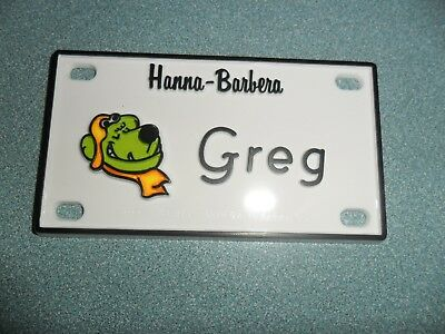 """Muttley of Scooby-Doo Name Plates or Door Signs circa 1972   About 4"""" x 2"""" x 1/8"""