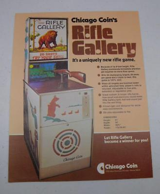 "MINT Chicago Coin ""Rifle Gallery"" Arcade Factory Sales Flyer Free USA Shipping"