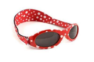 NEW Baby Banz Sunglasses Adventure Red Dot Girls Protect Sun UV Infant 0-2 yrs