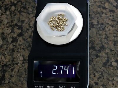 Alaskan/Yukon Gold 2.741 grams of Smalls & Flakes, No Reserve & Free Shipping!