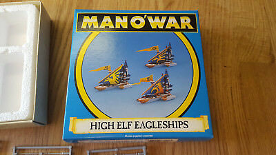 MAN O' WAR High Elf EagleShips mint condition never painted