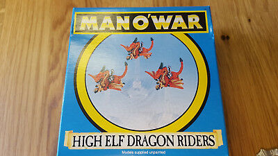 MAN O' WAR high elf dragon riders mint condition never painted