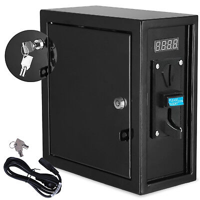 Coin Operated Timer Power Controlled Supply Box Coin Meter w/ Warning Sound