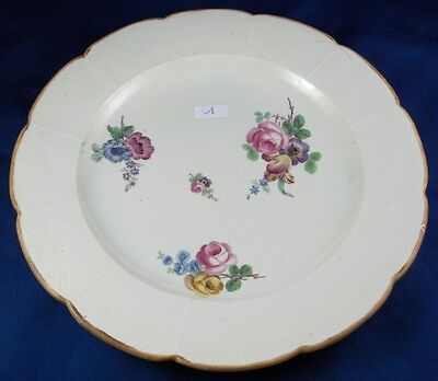 Rare 18thC Chantilly French Softpaste Porcelain Floral Plate Porzellan Teller #7