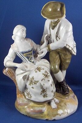 Antique 19thC French Italian Faience Figurine Figure Fayence Figur Italy France