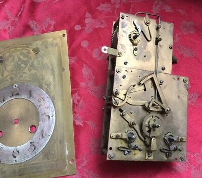 Very Rare Junghans Musical Clock Movement Dial Hands Gongs Very Unusual